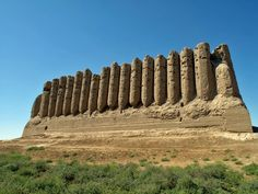 Kyz Kala, a 7th-century CE fortress outside of the city of Merv (in modern day Turkmenistan).