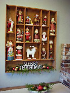 Display Shelf for my Santa Collection