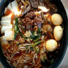 Beef Sukiyaki Hot Pot Recipe. Reminds me if cooking with grandma