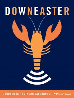 Amtrak Downeaster wi-fi poster