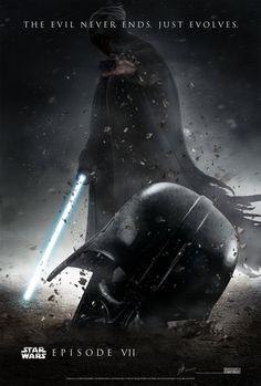 El mejor Fan Poster para #StarWars Episode VII que he visto. Goosebumps!