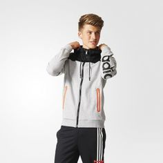 adidas Mesh Zip Hoodie - grijs | adidas Nederland