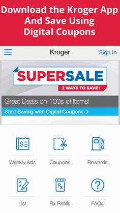 Digital coupons app
