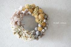 センニチコウと実もののナチュラルリース mini.2. by R.nief フラワー・ガーデン プリザーブドフラワー