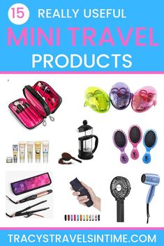 travel accessories 15 really useful mini travel products to buy for your next vacation. A selection of some of the best mini travel accessories available. Whether you travel by air or plane these products will come in handy! Packing Tips For Vacation, Travel Packing, Budget Travel, Vacation Trips, Vacation Travel, Beach Travel, Packing Lists, Travel Destinations, Time Travel