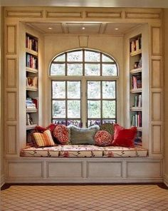 I always always wanted a window seat! The fact that there a book shelves around it makes it perfect...