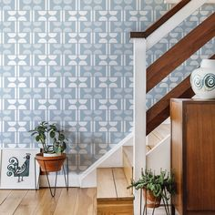 Napier by Layla Faye - Pale Sky - Wallpaper : Wallpaper Direct Hall Wallpaper, Trellis Wallpaper, Extra Image, Blue Tones, Wall Spaces, Designer Wallpaper, True Colors, Sky, Beautiful Wallpaper