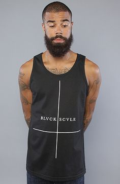 The Double Crossed Tank Top in Black by BLVCK SCVLE
