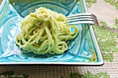Zuccini Pasta With Avocado & Cashew Creme Sauce: A Recipe