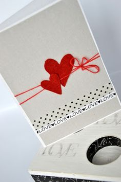 niepowtarzalna KARTKA: WALENTYNKI NA SUROWO ;) Hungry Hearts, Valentines Day, Valentine Cards, Paper Quilling, Decoupage, Playing Cards, Halloween, Handmade, Diy
