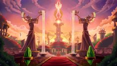 "The Sunfury Spire, Adam ""Forange"" Törn Fantasy Art Landscapes, Fantasy Landscape, Fantasy Places, Fantasy World, Blood Elf, Warcraft Art, Night Elf, Fantasy Castle, Image Painting"