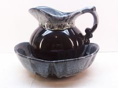 McCoy Pottery Pitcher and Basin Bowl 7528 in by GarageSaleGlass, $29.99