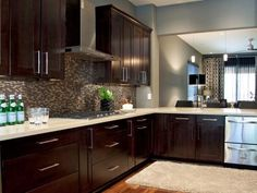 Kitchen Color Ideas With Dark Cabinets grey hardwood floors ideas modern kitchen interior design dark
