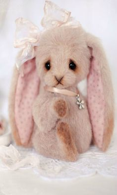 the cutest pink bunny