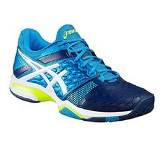 competitive price 20fe5 52bfc Buy Asics Gel-Blast 7 Shoes for mens for Badminton, Squash, Volleyball.  Available in Blue Jewel White Safety Yellow on ATR Sports.