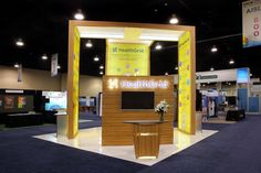 20x20 Custom Trade show booth for Healthgrid @ M Health Summit in Washington D.C