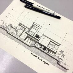 Make my projects real architecture:drawings&sketches&diagrams archi Architecture Concept Drawings, Architecture Sketchbook, Architecture Visualization, Art And Architecture, Sketches Arquitectura, Interior Sketch, Planer, Inspiration, Sketching