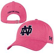 Notre Dame Fighting Irish Under Armour Women's Relaxed Adjustable Hat - Pink