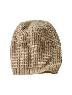 Perfect for my upcoming trip to Jackson Hole: Cashmere waffle beanie | Gap