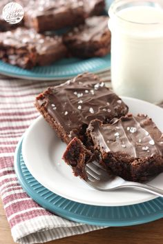 Salted Dulce de Leche Brownies from @akitchenaddict