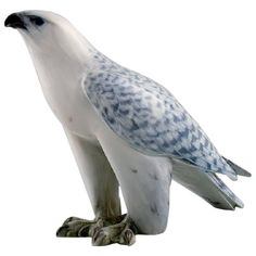 Royal Copenhagen, Porcelain Figurine in the Form of an Icelandic Falcon | From a unique collection of antique and modern porcelain at https://www.1stdibs.com/furniture/dining-entertaining/porcelain/
