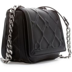 Zara Messenger Bag With Chain (115 BRL) ❤ liked on Polyvore featuring bags, messenger bags, carteras, purses, black, chain bag, black chain bag, black messenger bag, black bag and courier bag
