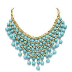 Turquoise Alyssa Necklace ($32) ❤ liked on Polyvore