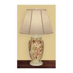 "JB Hirsch Home Decor Neptune's Paradise 27"" H Table Lamp with Empire Shade"