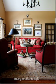 On Pinterest Red Sofa Traditional Living Rooms And Red Couches