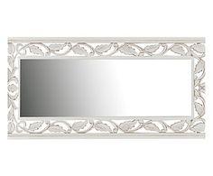 Specchio da parete in mdf Shiny bianco, 100x45x1 cm
