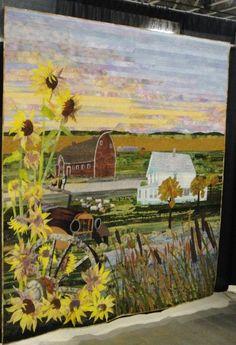 landscape quilt. Kaye Buckley