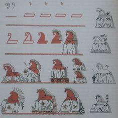 Рисунок. Лошадь - мезенская роспись