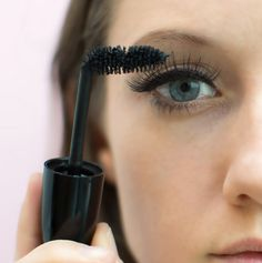 Cosmo Tip:  When you pull out the wand, bend it perpendicular to your eye to lengthen lashes and apply a big, even coat of mascara.