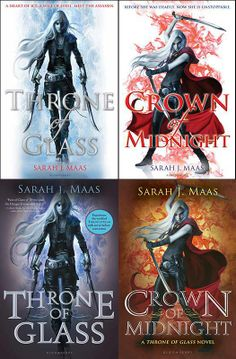 Throne of Glass Series by Sarah J. Maas - Covers for books 1 & 2. LOVE this series <3