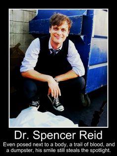 Spencer Reid #squishable #cutengeeky Dr. Reid is both cute AND geeky!!