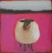 sheep by Tracy Helgeson - Tracy Helgeson was born in Rochester, Minnesota. She attended the Minneapolis College of Art and Design, majoring in Graphic Design and then attended the . Abstract Landscape Painting, Landscape Art, Abstract Art, Sheep Paintings, Animal Paintings, Painting Inspiration, Art Inspo, Sheep Art, Encaustic Art