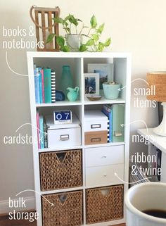 Organizing Your Home Office with the IKEA KALLAX Shelf | via Style In Simplicity