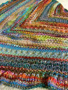 Scrappy shawl...