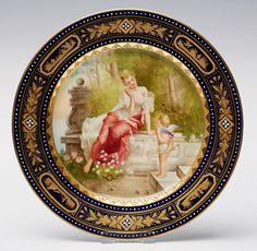 АукционноАнтикварная копилка: Европейская живопись на фарфоре... KPM Bildplatte 19 век..