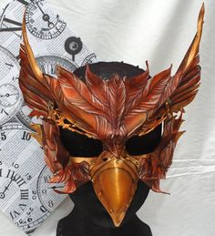 Steampunk Alice in Wonderland Leather Gryphon by PlatyMorph
