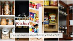 kitchen organizing tips for people with no pantry.