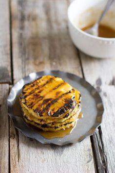 Serve sweet, caramelized grilled fruit for dessert.