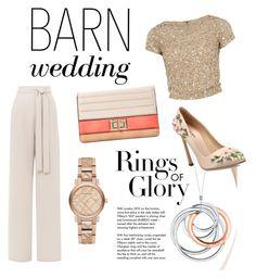 """The barn weeding look"" by daniela-paz-i ❤ liked on Polyvore featuring Tiffany & Co., Giambattista Valli, Alice + Olivia, Melie Bianco, Burberry, bestdressedguest and barnwedding"