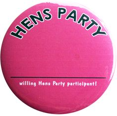 Hen Night Girls Party Posse Badges Pack of 6 in Pink /& Silver Great Party Fun