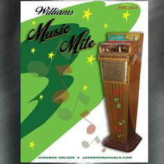 Printed Jukebox Manuals - Jukebox Arcade  Williams Mfg. Co. Music Mite (1951) Instructions