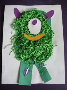 Messy Monster Craft | No Time For Flash Cards - Play and Learning Activities For Babies, Toddlers and Kids