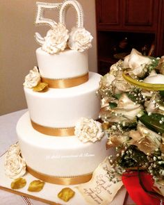 Wedding cake, torta anniversario, torta 50 anni matrimonio