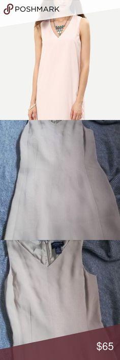6b208a6ba4 Ann Taylor v neck nude dress petite Nude dress by Ann Taylor casual style  petite size