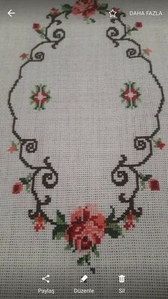 This post was discovered by Ayşe Yıldırım. Discover (and save!) your own Posts on Unirazi. Cross Stitching, Cross Stitch Embroidery, Hand Embroidery, Vintage Cross Stitches, Vintage Embroidery, Cross Stitch Charts, Cross Stitch Patterns, Handmade Wall Hanging, Crochet Bedspread