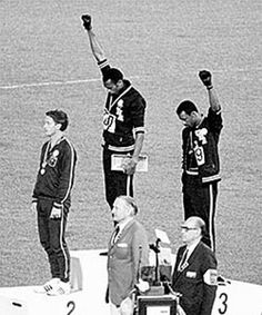 Tommie Smith and John Carlos performed their Black Power salute at the 1968 Olympics.